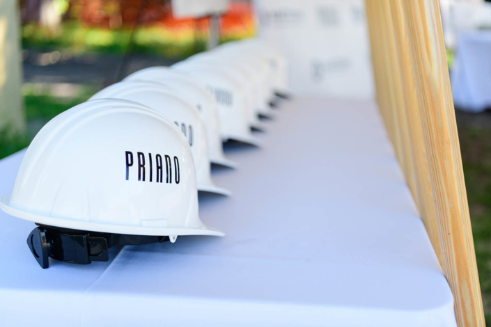 Priano groundbreaking Hard Hats Ready